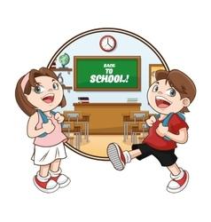 classroom back to school design vector image