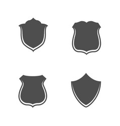 Collection blank shields for web vector