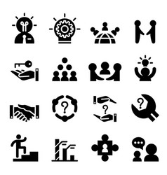 Consultant icon set vector