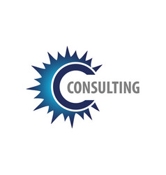 consulting blue ray initial letter c logo concept vector image