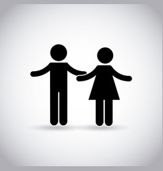 Couple with open arms vector