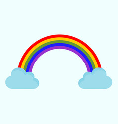 Cute rainbow cloud drawing graphic vector
