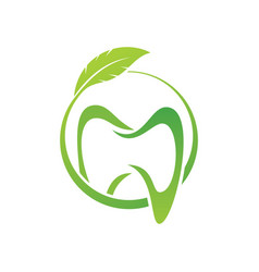 Dental clinic creative company logo vector