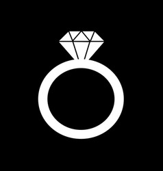 diamond ring icon design vector image
