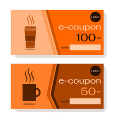 electronic discount coupon for coffee vector image