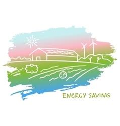 energy-efficient construction vector image