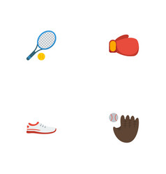 Flat icons glove boxing rocket and other vector