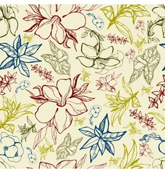 Flower Thai seamless vector image