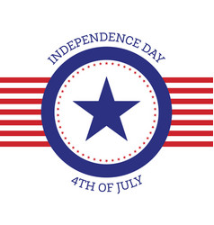 fourth july independence day united states vector image