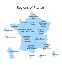 France administrative map with new regions vector
