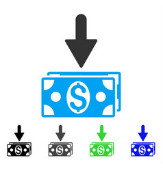 Get dollar banknotes flat icon vector