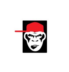 gorilla-logo vector image