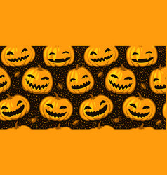 halloween party seamless background pattern vector image