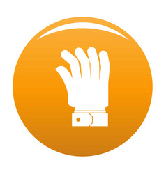hand icon orange vector image