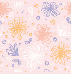Hand painted large scale floral seamless vector
