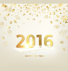 Happy new year card template vector image