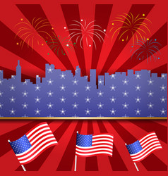 happy usa independence day 4 th july greeting vector image