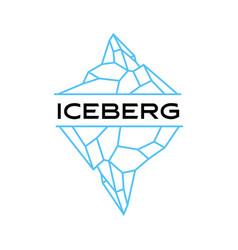 iceberg mount logo icon vector image