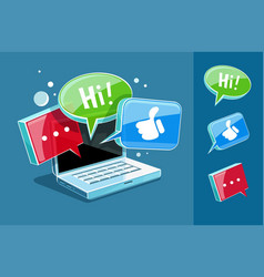 icon for online web chat vector image