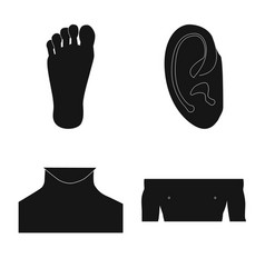 isolated object of human and part icon set of vector image