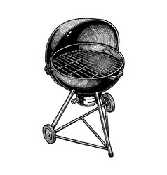 Kettle grill vector