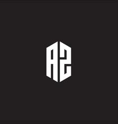 Logo monogram with hexagon shape style design vector
