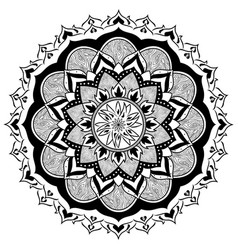mandala of fire and wood vector image