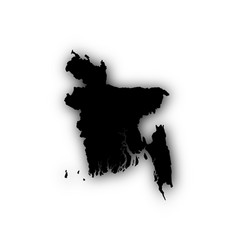 map of bangladesh with shadow vector image