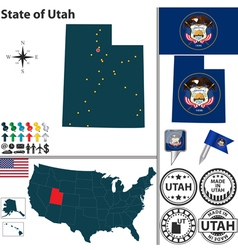 Map of Utah vector