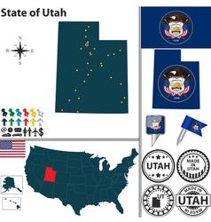 map utah vector image