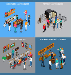 Master class isometric concept vector
