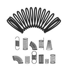 Metal spiral flexible wire elastic spring vector