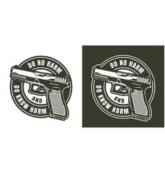 Monochrome military label vector