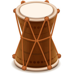 Mridangam indian double wooden drum vector image vector image