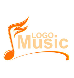 music note with fire vector image