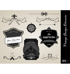 ornate labels vector image
