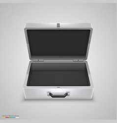 Outdoor metal briefcase vector