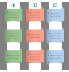 Paper numbered banners in pastel colors vector image