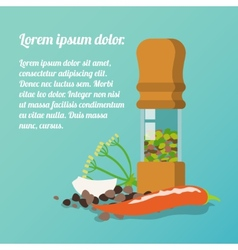 Pepper mill poster vector image