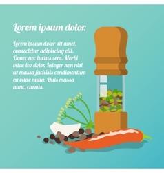 Pepper mill poster vector