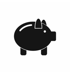 Piggy bank icon simple style vector image vector image