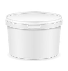 plastic container for ice cream or dessert 01 vector image