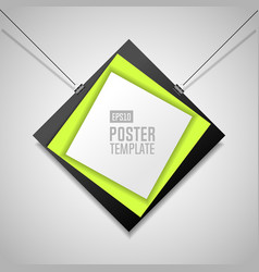 poster template with clips vector image