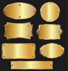Promo empty sale labels collection golden design 2 vector