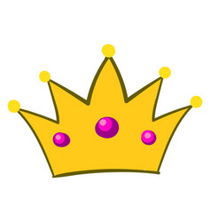 queen crown on white background vector image