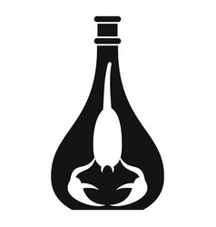 scorpion bottle icon simple style vector image