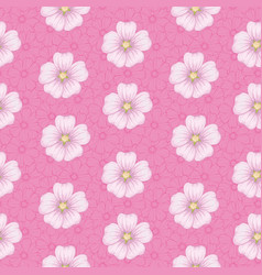 seamless floral pattern mallow vector image