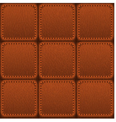 Seamless patched leather texture vector