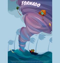 seaside landscape poster vector image