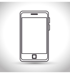 Silhouette smartphone technology white background vector